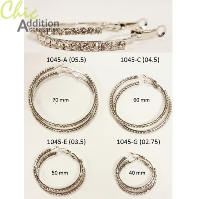 Earrings 1045-A, 1045-C, 1045-E, 1045-G